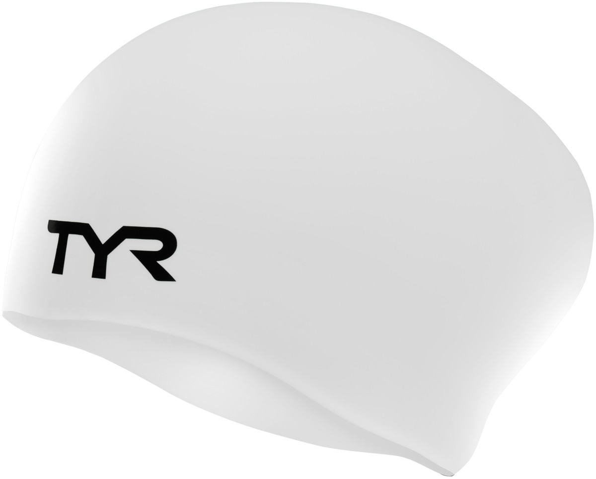 TYR Long Hair Wrinkle-Free Silicone Adult Swim Cap  f99a977d9