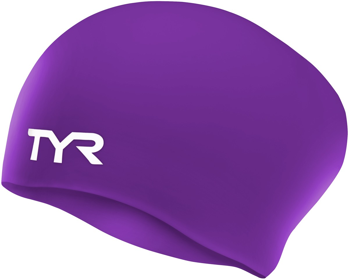 207946d0309 TYR Long Hair Wrinkle-Free Silicone Adult Swim Cap | TYR