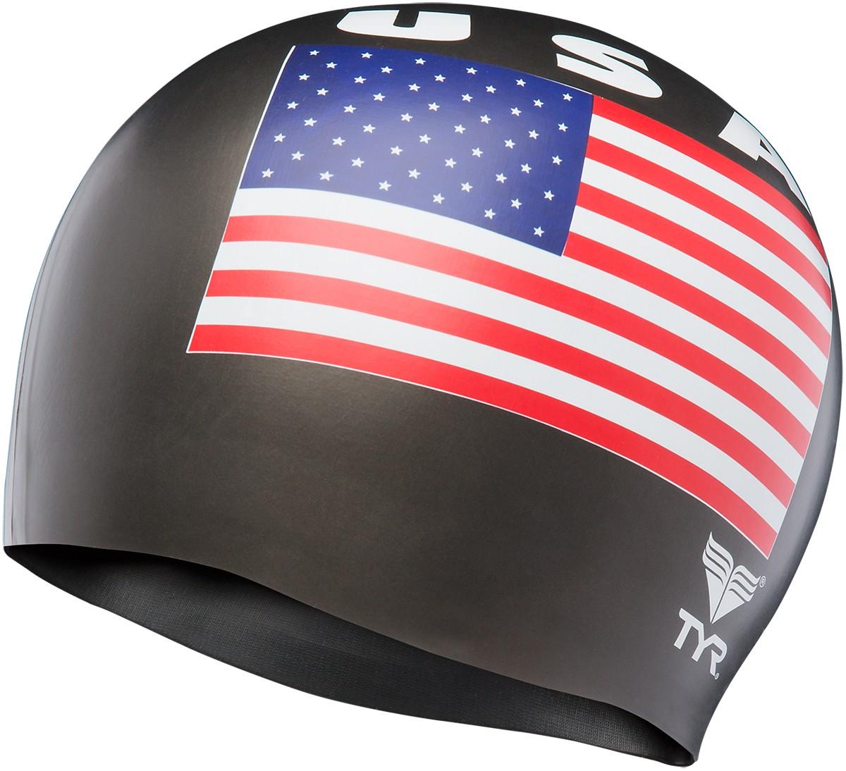 68929fa254e5f TYR USA Silicone Adult Swim Cap