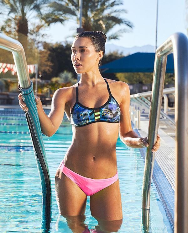 meet 256a7 7ab23 Shop The Look - Azoic Pacific Tieback Top & Solid Mini Bikini Bottom