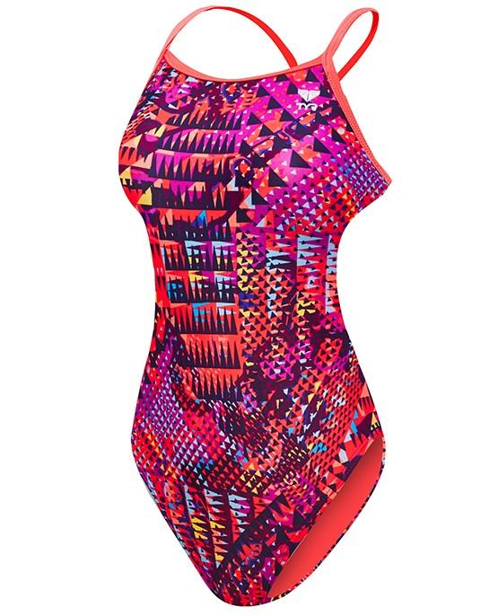 6ffb503227b6a ... TYR Girl s Machu Crosscutfit Tieback Swimsuit ...