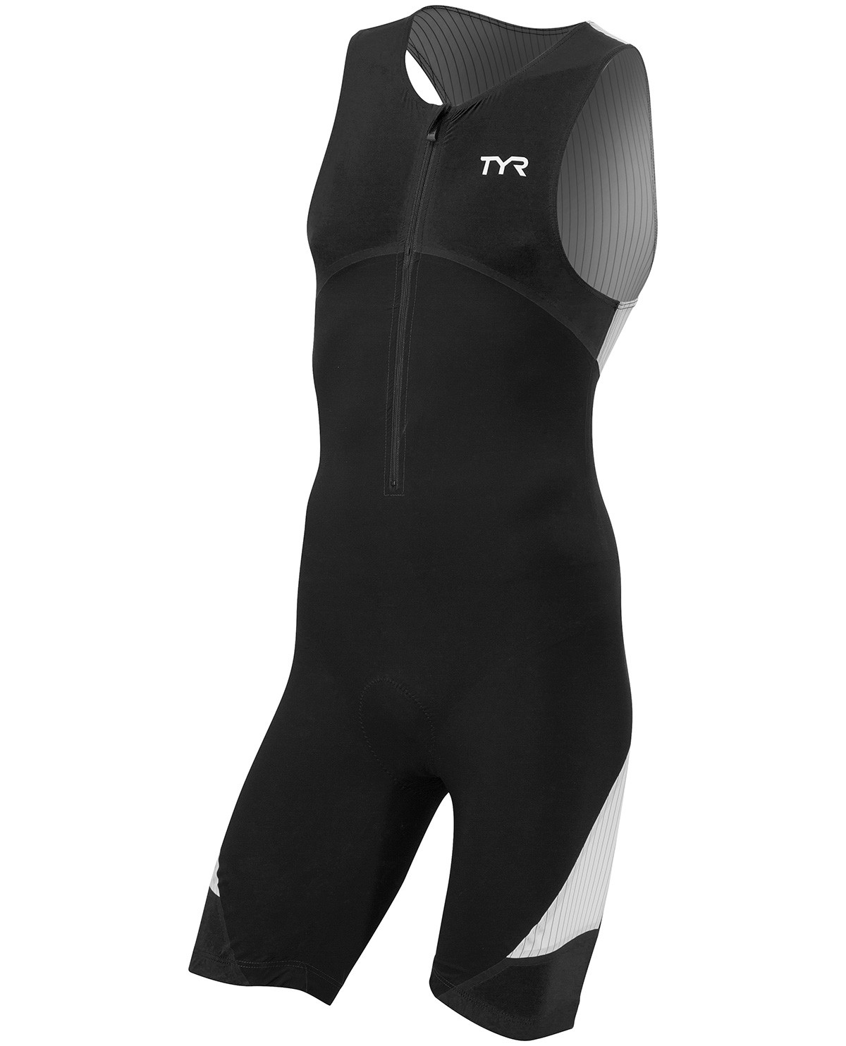 1018b57928 TYR Men's Carbon Padded Front Zip Tri Suit   TYR