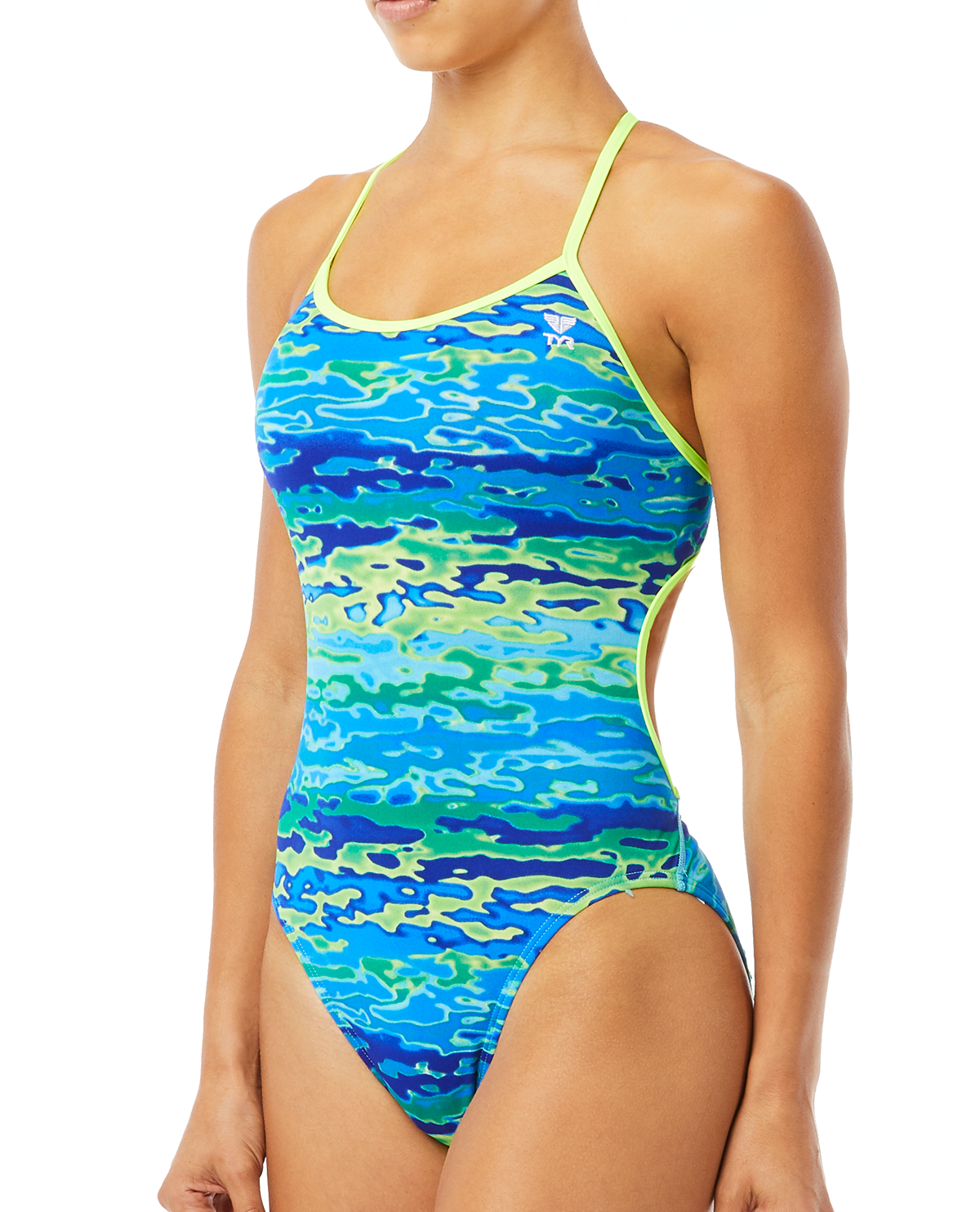 102bdf8994c12 TYR Women's Serenity Trinityfit Swimsuit - Blue Green ...