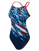 TYR Girls' Live Free Cutoutfit Swimsuit