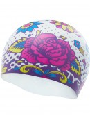TYR Flower Power Silicone Adult Swim Cap