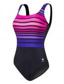 Women's Plus Size Ombre Stripe Aqua Controlfit Swimsuit
