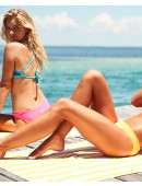 Shop The Look - Electro Crosscut Tieback Top & Solid Mini Bikini Bottom