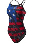 Girls' TYR USA Valor Diamondfit Swimsuit