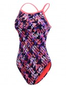Girls' TYR Pink Xenon Diamondfit Swimsuit
