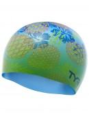 TYR Pineapple Fade Silicone Adult Swim Cap