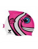 TYR CharacTYRS Happy Fish Silicone Kids' Swim Cap
