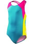 Girls' Solid Splice Maxfit Swimsuit