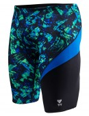 TYR Boys' Emulsion Wave Jammer Swimsuit