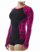TYR Pink Women's Aria Long Sleeve Rashguard- Cadet