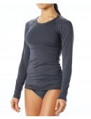 TYR Women's Belize Long Sleeve Rashguard - Solid