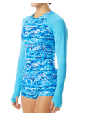 TYR Women's Belize Long Sleeve Rashguard- Sundrata