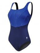 TYR Women's Plus Size Monroe Stripe Aqua Controlfit Swimsuit