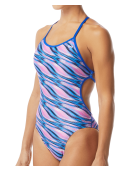 TYR Pink Women's Adrift Crosscutfit Tieback Swimsuit