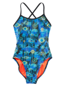 TYR Girls' Azoic Trinityfit Swimsuit