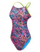 TYR Girls' Motus Cutoutfit Swimsuit