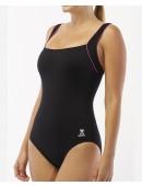 Women's Plus Size TYR Pink Square Neck Controlfit Swimsuit