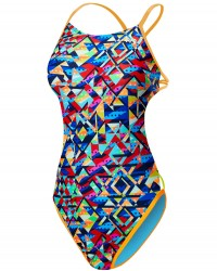 TYR Girls' Mosaic Mojave Cutoutfit Swimsuit