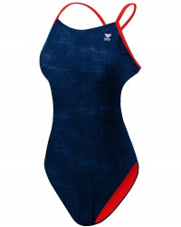 TYR Girl's Sandblasted Cutoutfit Swimsuit