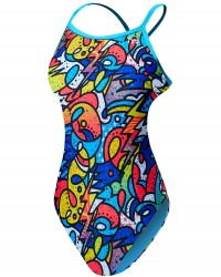 TYR Girls' Astratto Diamondfit Swimsuit