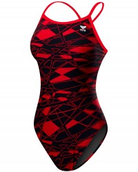 TYR Girls' Mantova Diamondfit Swimsuit - RED