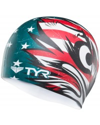 TYR Patriot Silicone Adult Swim Cap