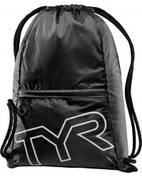 TYR Drawstring Sackpack - Black