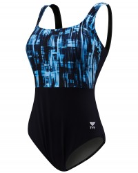 TYR Women's Tremiti Scoop Neck Controlfit Plus - Gifts For Fitness Women