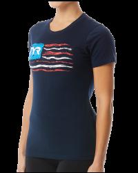 """TYR Women's """"Let Freedom Swim"""" Graphic Tee"""