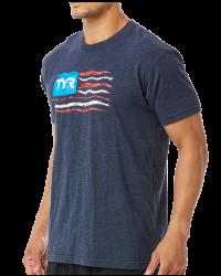 """TYR Men's """"Let Freedom Swim"""" Graphic Tee"""