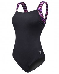 TYR Women's Bellvue Stripe Square Neck Controlfit Swimsuit