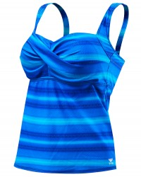TYR Women's Tramonto Twisted Bra Tankini Plus - Fitness Presents For Her