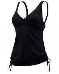 TYR Women's Solid V-Neck Tankini Plus