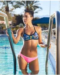 Shop The Look - Azoic Pacific Tieback Top & Solid Mini Bikini Bottom