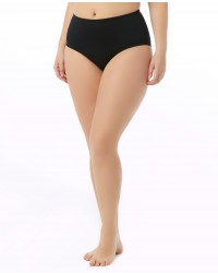 Women's Plus Size Solid High Waist Swim Bottom