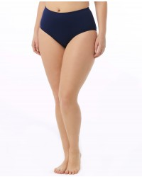 Women's Solid High Waist Swim Bottom