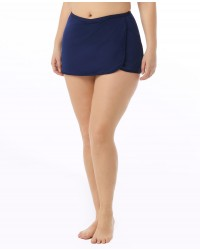 Women's Plus Size Solid Swim Skort