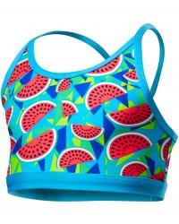 TYR Girls' Tutti Frutti Trinity Top - Turquoise
