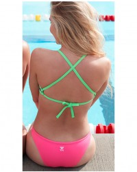 Shop The Look - Vitality Crosscut Tieback Top & Solid Micro Bikini Bottom