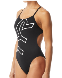 TYR Women's Big Logo Cutoutfit Swimsuit
