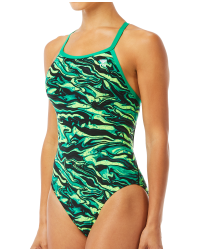 TYR Women's Miramar Diamondfit Swimsuit- Green