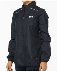 TYR Women's Alliance Windbreaker-Black