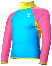 TYR Girls' Solid Splice Rashguard