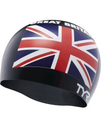TYR Great Britain Silicone Adult Swim Cap