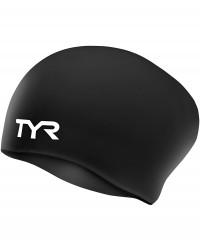 TYR Junior Long Hair Wrinkle Free Swimming Caps
