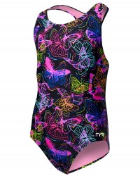TYR Girls' Mariposa Ella Maxfit - Black/Multi